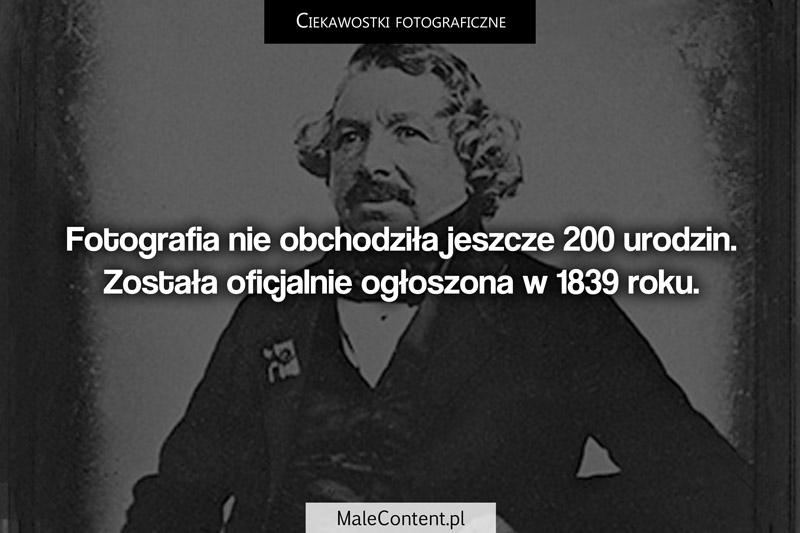 Ciekawostki fotograficzne piotr iskra malecontent.pl fotografia powstała w 1839 roku