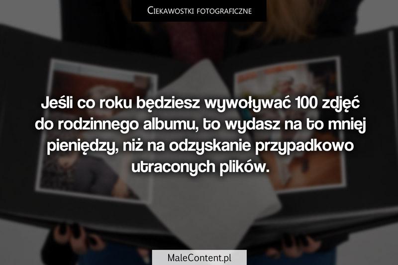 Ciekawostki fotograficzne piotr iskra malecontent.pl wywoływanie zdjęć odzyskiwanie plików