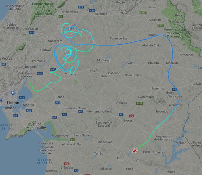 Lot Astana airlines KZR1388 KC1388 Portugalia, Lizbona, wypadek Lotniczy.